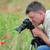 カメラ · ケシ · フィールド · クローズアップ · 手 - ストックフォト © simazoran