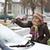 automotive · vrouw · sneeuw · auto · winterlandschap · volwassen - stockfoto © simazoran