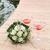 menyasszonyok · vörös · rózsák · menyasszony · tart · virágcsokor · lenyűgöző - stock fotó © simazoran