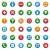 kleurrijk · pijl · iconen · achtergrond · groene · kompas - stockfoto © simo988