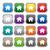 huis · vierkante · vector · violet · icon - stockfoto © simo988