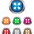 vier · glanzend · knoppen · iconen · suits · eps10 - stockfoto © simo988