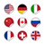 vector · wereld · vlaggen · web · knoppen · twee - stockfoto © simo988