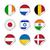 vector · mundo · banderas · web · botones · dos - foto stock © simo988
