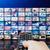 multimédia · monitor · fal · széles · képernyő · színes - stock fotó © simpson33