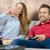 heureux · famille · jouer · jeux · vidéo · canapé · fille - photo stock © simpson33
