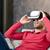 adam · sanal · gerçeklik · kulaklık · 3d · gözlük · 3D - stok fotoğraf © simpson33
