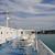 hajó · néz · ki · álomszerű · horizont · felhők - stock fotó © sirylok