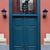 fém · festett · kék · ajtó · fal · absztrakt - stock fotó © sirylok