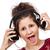 casque · cute · adolescente · écouter · de · la · musique · isolé · blanche - photo stock © slp_london