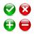 チェック · マーク · 緑 · 赤十字 · ベクトル · ステッカー - ストックフォト © smarques27