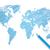 gekleurd · potlood · wereldkaart · vector · ontwerp · wereld - stockfoto © smarques27