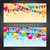 abstract banners with colorful balloons hanging flags and confe stock photo © smeagorl