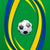 footbal background in brazil flag concept stock photo © smeagorl