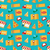 seamless pattern with slices of pizza and colorful icons service of delivery of pizza stock photo © smeagorl