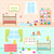 set playrooms for kids baby rooms interior stock photo © smeagorl