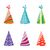 set of party colorful hats isolated on white background stock photo © smeagorl