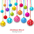 new year bckground with set colorful christmas balls stock photo © smeagorl