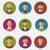 colorido · pessoas · faces · círculo - foto stock © smeagorl