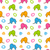 seamless texture with colorful cartoon elephants stock photo © smeagorl