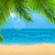 natural background with palm leaves and beach stock photo © smeagorl