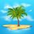 paraíso · isla · tropical · mar · palma · castillo · de · arena · tortuga - foto stock © smeagorl