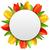 Rood · tulp · vector · wenskaart · verbazingwekkend · bloem · vector - stockfoto © smeagorl