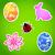 ovo · de · páscoa · vermelho · floral · elementos · páscoa · folha - foto stock © smeagorl