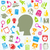 Set of Education Flat Colorful Simple Icons  stock photo © smeagorl