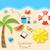 nyári · vakáció · idő · szett · színes · egyszerű · ikonok - stock fotó © smeagorl