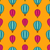 old seamless travel pattern of air colorful balloons stock photo © smeagorl