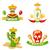 mexicano · cacto · conjunto · ilustração · engraçado · cômico - foto stock © smeagorl
