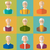 old people icons of faces of old men grandfathers characters stock photo © smeagorl
