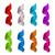 set shiny colorful satin spiral ribbons isolated on white backgr stock photo © smeagorl