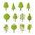 collection set flat icons tree garden bush stock photo © smeagorl