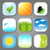 set various backgrounds for the app icons stock photo © smeagorl