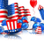 Cute Wallpaper in National American Colors stock photo © smeagorl