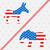 votar · republicano · elefante · democrata · burro · ilustração - foto stock © smeagorl