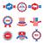 különböző · amerikai · szimbólumok · vektor · szett · illusztráció - stock fotó © smeagorl