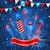 partij · traditioneel · amerikaanse · kleuren · wenskaart · illustratie - stockfoto © smeagorl