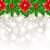 christmas glowing background with holly berry and poinsettia stock photo © smeagorl