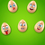 happy easter background with cheerful cartoon eggs stock photo © smeagorl