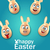 humor easter card with cheerful eggs with ears stock photo © smeagorl