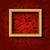 retângulo · quadro · ouro · parede · projeto - foto stock © smeagorl