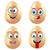 set smiling funny eggs positive emotions stock photo © smeagorl