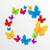voorjaar · kaart · vlinders · kleurrijk · illustratie · papier - stockfoto © smeagorl