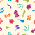 seamless pattern of party objects wallpaper for holidays stock photo © smeagorl