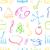 school · doodle · naadloos · terug · naar · school · kleurrijk - stockfoto © smeagorl