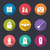 party flat icons with halloween stock photo © smeagorl