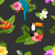 seamless pattern with exotic flowers and birds jungle texture stock photo © smeagorl